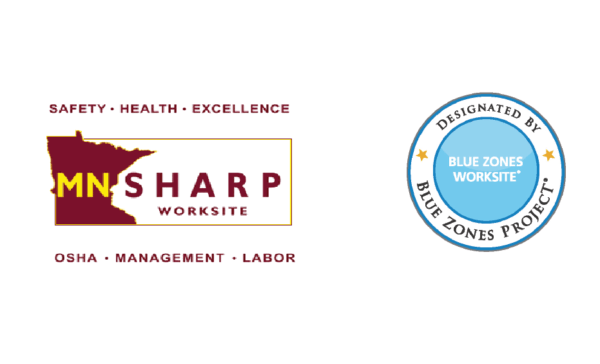 MNSHARP & Blue Zones Logos
