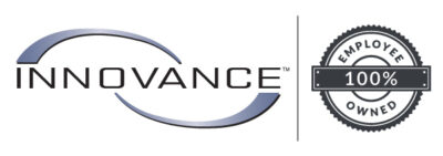Innovance Logo with 100% Employee owned logo