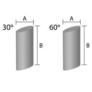 Angle Cut Cylinder Ceramic Media