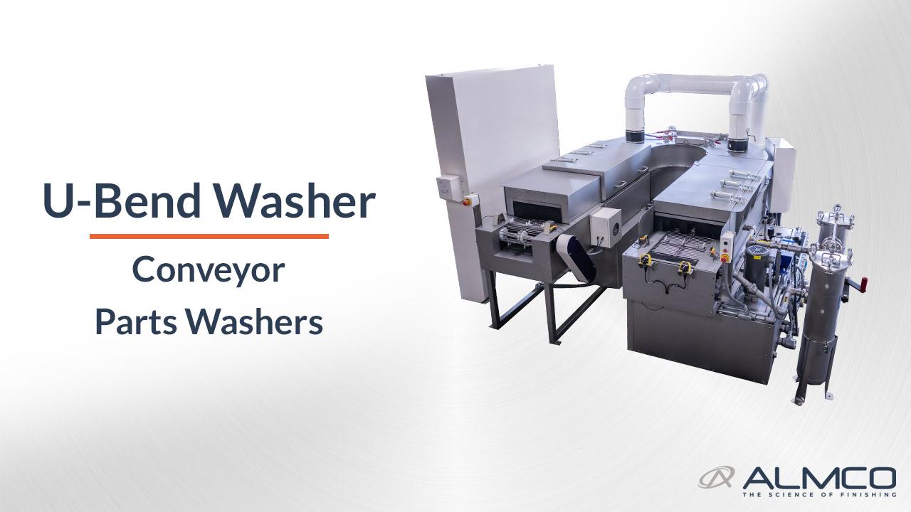 U-Bend Conveyor Parts Washer